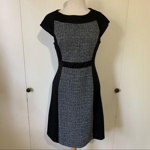 Jones Wear Black Colorblock Cap Sleeve Dress